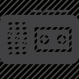 audio, cassette, recorder, retro, tape icon