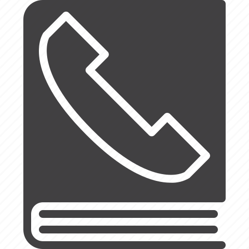 book, contact, customer, phone, telephone icon