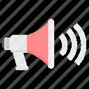announcement, audio, loudspeaker, marketing, speaker, volume icon