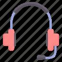 earphone, headphones, headset, microphone, music, sound icon