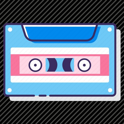 cassette, record, recording, tape icon