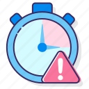 clock, deadline, due date, overdue, stopwatch, time, timeline icon