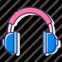 earphone, headphone, headphones, headset, music, sound icon