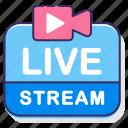 live, live stream, live streaming, live video, stream icon