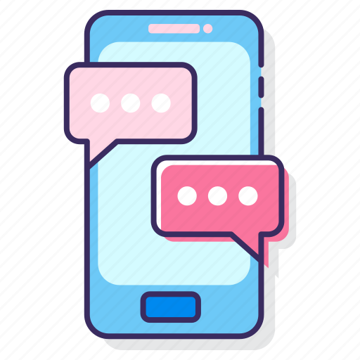 chat app, messaging, messaging app, mobile icon