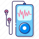 audio player, mp3, mp4, music, music player, player icon