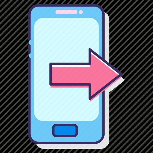call, call forwarding, calling, outgoing, outgoing call, phone call icon