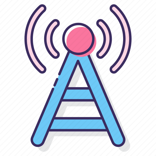 cell tower, receiver, signal, tower, transmission icon
