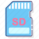card, memory card, sd, sd card icon