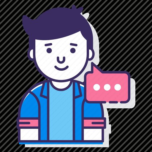 chat, chatting, talk, talking icon