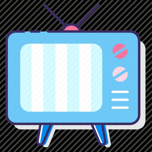 broadcast, broadcasting, television, tv icon