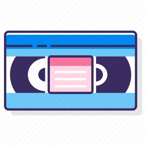record, recording, tape, vhs, vhs tape icon