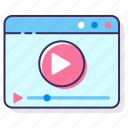 media, media player, player, video, video player icon