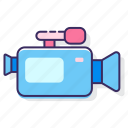 camera, film camera, movie camera, recorder, video, video camera, video recorder icon