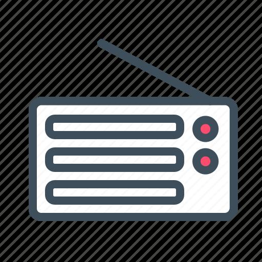 communicate, communication, electronic device, entertainment, radio, radiowave icon