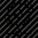 cogwheel, control, gear, network, processing icon