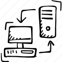desktop, monitor, server icon icon