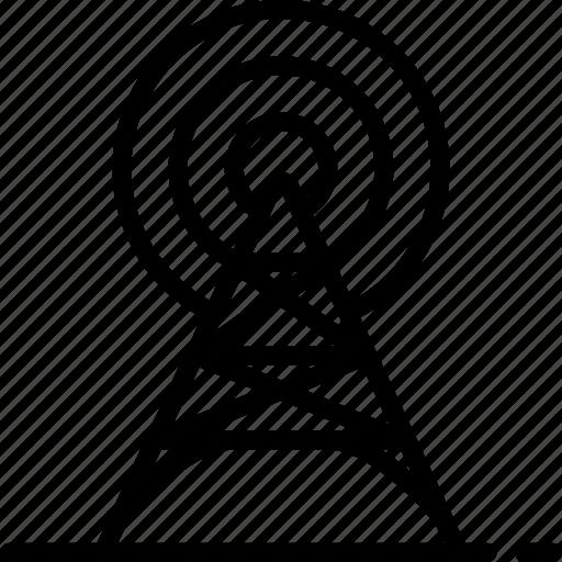 communication, line, pylon, signal, telephone, tower icon