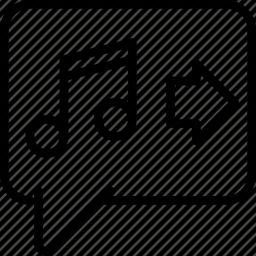 audio, communication, media, message, text icon