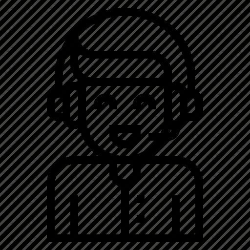 avatar, callcenter, communication, job icon