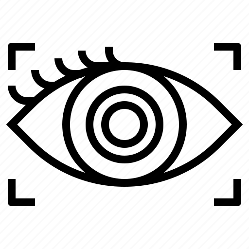 communication, contact, eye icon