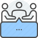 communication, conference, conversation, debate, dialogue, discourse, group discussions icon