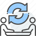 communication, debate, discussion, negotiation, parleying, trade icon