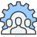 building, communication, crew, employee, force, team, work icon