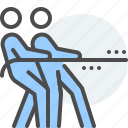 collaborator, communication, cooperate, effective, group, rope pulling, teamwork icon