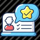 feedback icon, hr management, evaluation, feedback icon