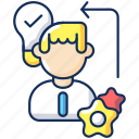 diligence, creative thinking, business planning, diligence icon icon