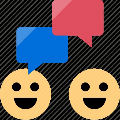 chat, conversation, happy, talk icon