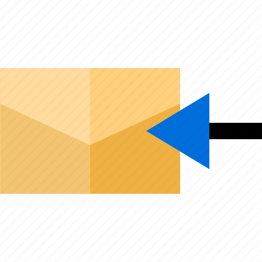 arrow, email, mail, message icon