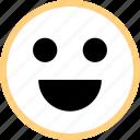 emoji, emotion, face, happy icon