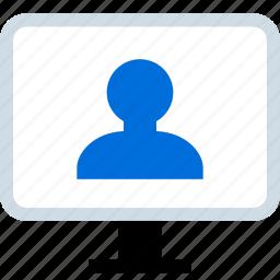 mac, pc, person, user icon