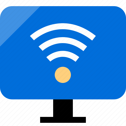 mac, pc, send, wifi icon