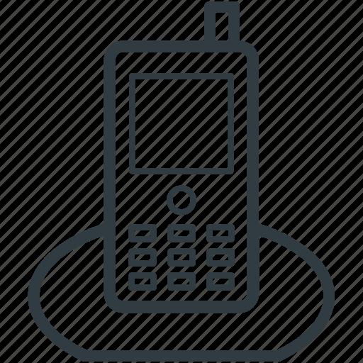 communication, cordless phone, digital phone, electronics, portable telephone icon