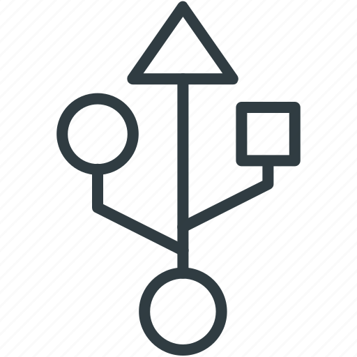 flash drive, usb logo, usb port, usb sign, usb symbol icon