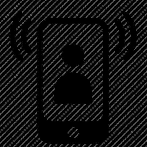 calls, phone, vibrate icon