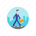 business, city, commute, home, marketing, office, walk icon