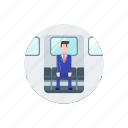 business, commute, office, train, transport, transportation, work icon