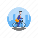 bike, commute, office, transport, transportation, vehicle, work icon