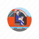 automobile, car, commute, transport, transportation, vehicle, work icon