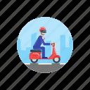 bike, commute, scooter, transport, transportation, vespa, work icon