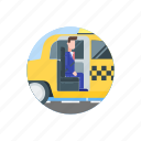 taxi, transportation, work, commute, traffic, vehicle, transport