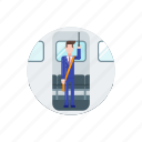 commute, standing, train, transport, transportation, vehicle, work icon
