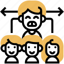 chain, command, positions, structure, company icon
