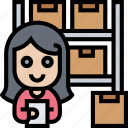 inventory, checking, product, stock, warehouse icon
