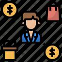 clerk, departments, manage, people, sales, worker