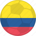 columbia, olympic games, soccer, tournament icon